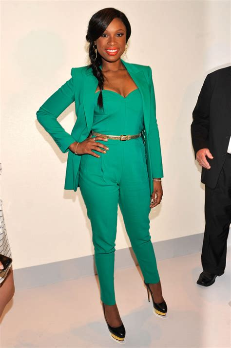 jumpsuit with blazer hudson chose an emerald jumpsuit and coordinating