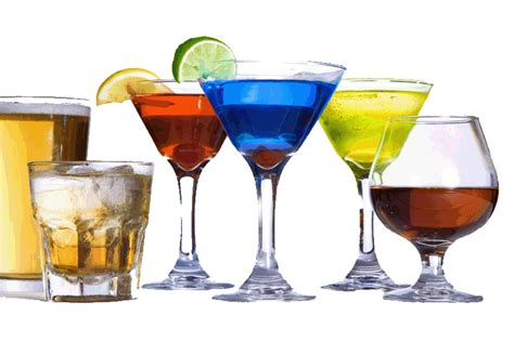 mixed drinks people drink more alcohol on days of gym elevated