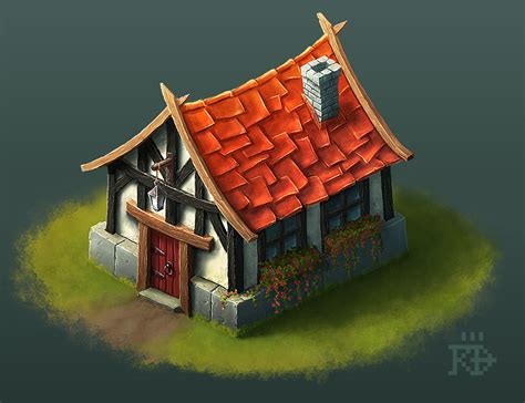 Cute Little Isometric Fantasy House By Rgbfumes On Deviantart