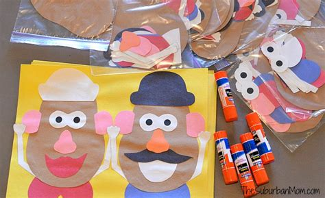 toy story party bag template mr and mrs potato head craft for a toy story party
