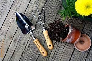 Personalized Garden Tool Set Hand Trowel Short Shovel