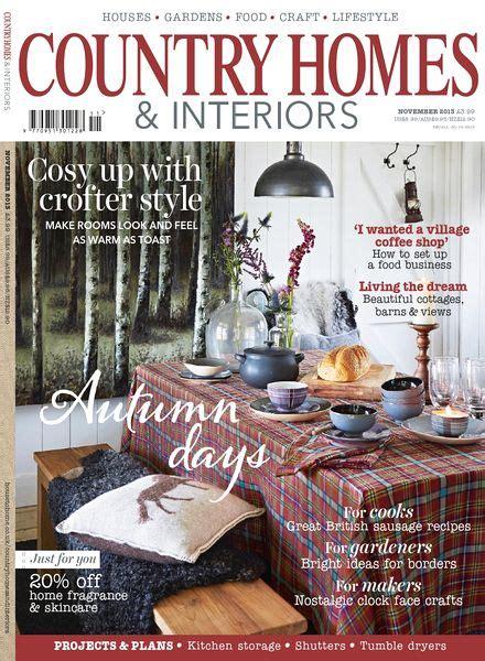country home and interiors magazine country homes interiors magazine november