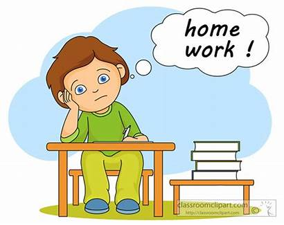 Homework Clipart Doing Student Lots Thinking Writing