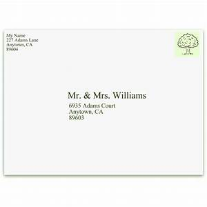 learn the proper format for addressing envelopes With proper return address format for wedding invitations