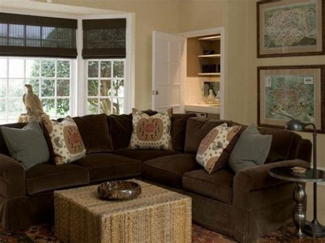 blue and brown furniture blue living room with brown sectional brown sofa design and blue wall in modern living room for
