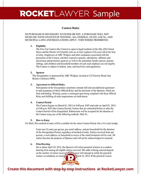 Photo Contest Template by Contest Document For Hosting A Contest Template