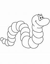 Worm Coloring Pages Printable Cute Worms Bookworm Cartoon Template Print Clip Templates Preschool Apple Sheets Vowels Popular sketch template