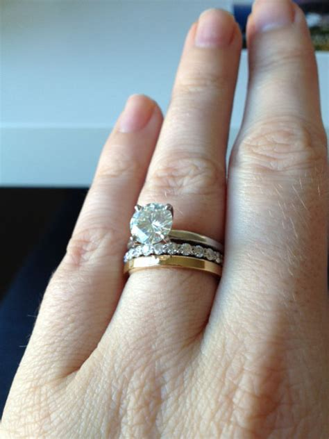 i need more mismatched stacked ring porn weddingbee