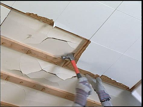 replace ceiling tiles  drywall  tos diy