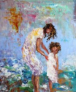 Palette Knife Painters: Original oil painting Mother and ...