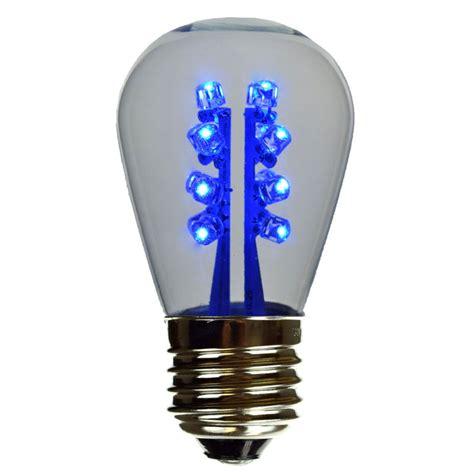 led s14 light bulb medium base blue led clearglass