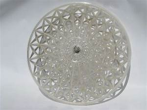 Clip On Ceiling Light Cover Retro 1950 39 S Vintage Plastic Clip On Lamp Shade For