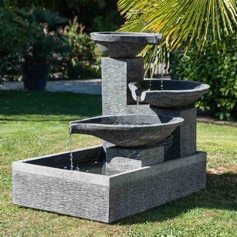 fontaine de jardin fontaine 224 d 233 bordement 3 vasques grise