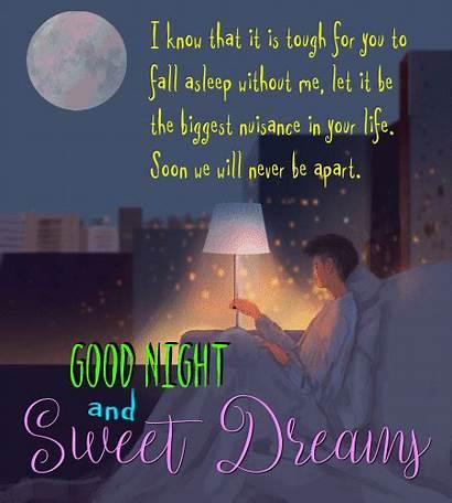 Dreams Sweet Night Ecard Goodnight Greetings Card