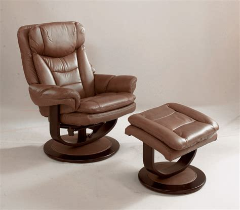 brown swivel recliner chair with ottoman classic two