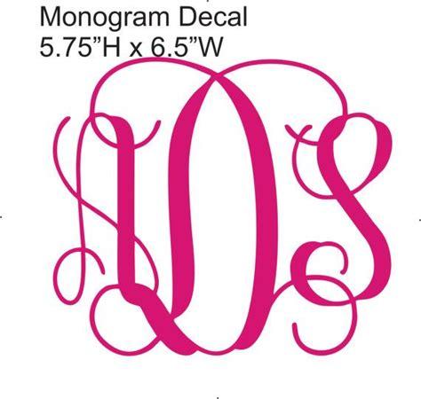 vinyl car monogram sticker vine font etsy  monogram fonts vine monogram font monogram