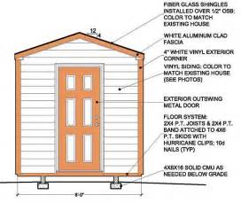 8 215 8 garden shed building plans blueprints for simple gable shed