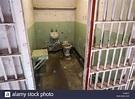 San Francisco, USA - A prison cell inside Alcatraz prison ...