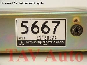 Engine Control Unit Md175667 E2t38974 5667 Mitsubishi Colt Lancer  22