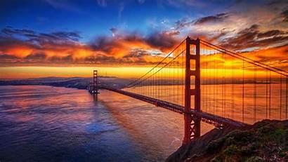 4k Sunset Bridge Nature Sky Wallpapers Backgrounds