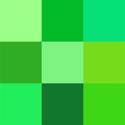 the gallery for gt shades of green color chart