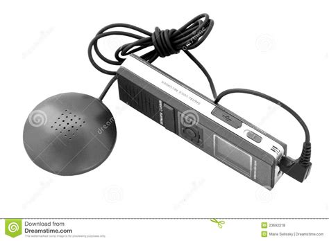 Background Voice Recorder Voice Recorder With A Microphone Royalty Free Stock Photos