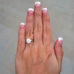 2 carat engagement ring my beautiful engagement ring 2 carat solitaire on a white gold band my fiancé did an
