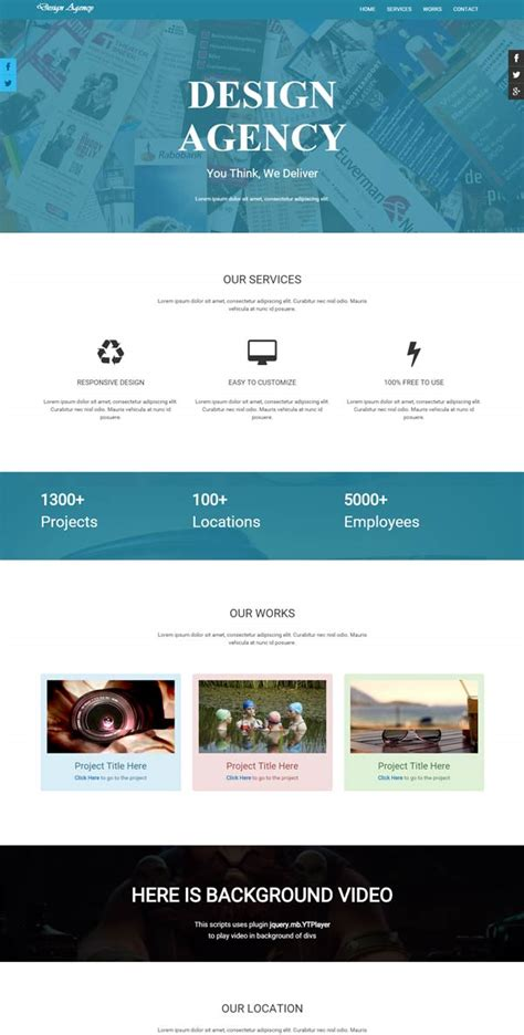 parallax website template parallax responsive website template free buildget