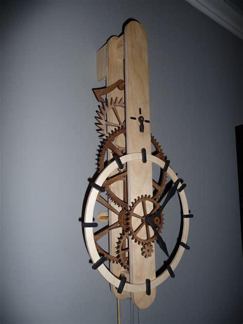 wooden gear clock plans   diy woodworking