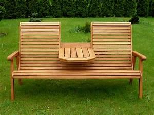 Gartenbank Holz Mit Integriertem Tisch