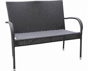 Polyrattan 2 Sitzer : gartenbank palermo polyrattan 2 sitzer schwarz bei hornbach kaufen ~ Whattoseeinmadrid.com Haus und Dekorationen