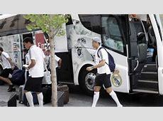 Bayern MunichReal Madrid Real Madrid's team bus will be