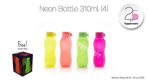 Eco Neon 310ml By Lay Tuppy jual tupperware eco neon bottle 310ml send tuppy