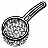 Clipart Strainer Sieve Strain Lineart Clip Icon Svg Cliparts Clipground Sieb Library sketch template