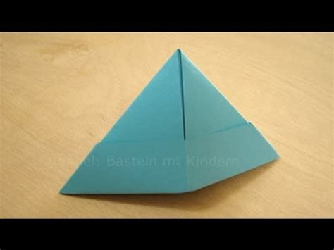 lenschirm basteln papier falten papierhut falten papier falten zum hut