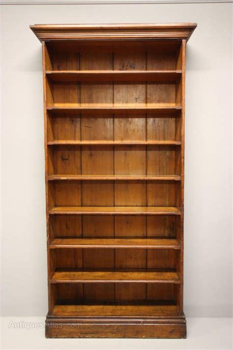 Antique Pine Bookcases by Antique Pine Open Bookcase Antiques Atlas