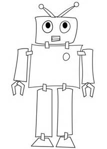 shy robot coloring page free printable coloring pages With see a robot workout