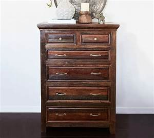 bowry reclaimed wood tall dresser pottery barn With bowry bed pottery barn
