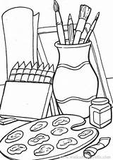 Coloring Pages Supplies Clipart Drawing Colouring Crafts Clip Arts Printable Fra Lagret sketch template