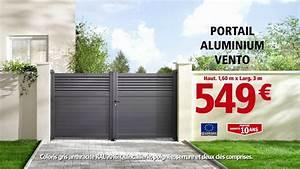 Portail En Aluminium : brico d p t portail aluminium youtube ~ Melissatoandfro.com Idées de Décoration