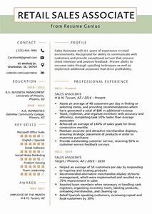 Retail sales associate resume sample writing tips resume genius for Sales associate resume template
