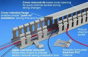 Panduit H Type Wide Slot Hinged Cover Wiring Duct