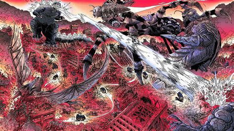 Godzilla Half Century War Monsters Comics Battle Cities