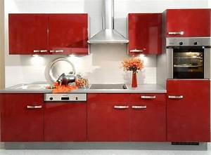 Cuisine équipée Solde : cuisine equipee rouge modele cuisine amenagee cuisines francois ~ Teatrodelosmanantiales.com Idées de Décoration