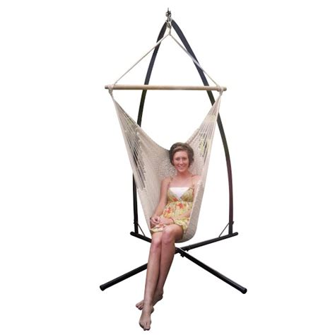 Free Standing Hammock Chair by Free Standing Hammock Chair Mexican Crochet Rope Hammock