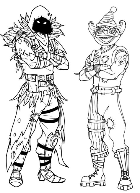 coloriage fortnite peekaboo outfit  nevermore soldier