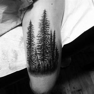 50 Tree Line Tattoo Design Ideas For Men - Timberline Ink
