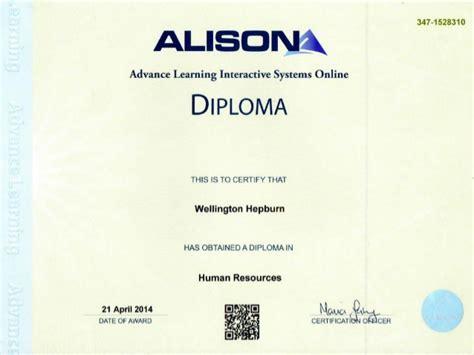 diploma courses free alison diploma human resources management wellington