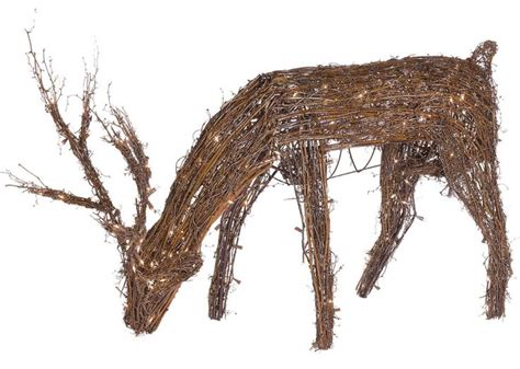 48 quot grapevine reindeer with led outdoor yard