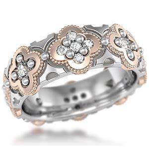 quatrefoil wedding band With artsy wedding rings